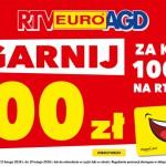 Promocja RTV Euro AGD – 100 zł za każde wydane 1000 zł