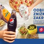 Zniżka za nakrętkę od Pepsi do KFC, Burger King lub Pizza Hut